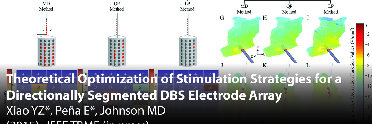 Theoretical Optimization of Stimulation strategies for a Directionally segmented DBS electrode array