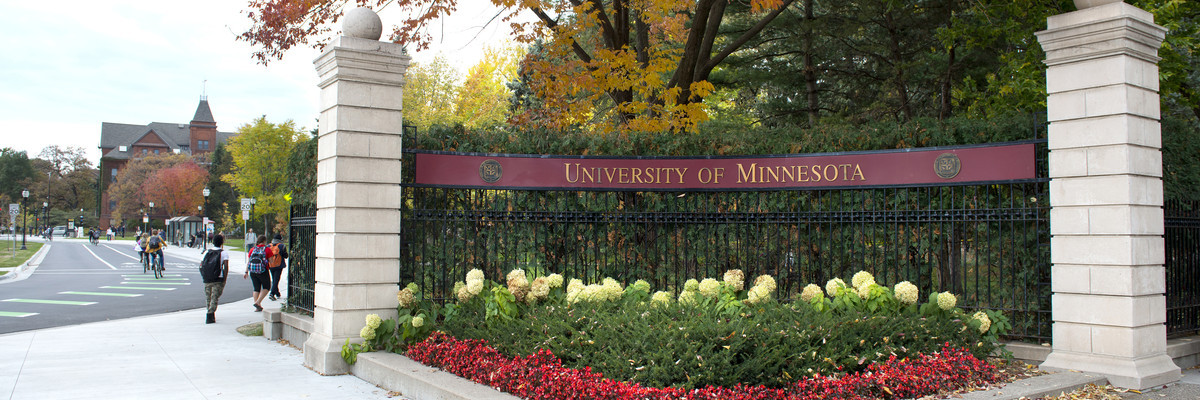 University of Minnesota gateway sign